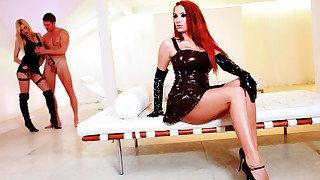 Latex HD beauties and their naughty latex fantasies in a one sex cocktail!