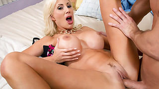 Busty blonde Puma Swede decides to sleep with her friends boyfriend and seduces him with her big..