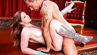 Sunny Lane goes crazy wild on Marcus\' cock while stripping