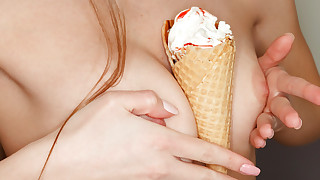 Horny redheads are driven to a paradise of pleasures