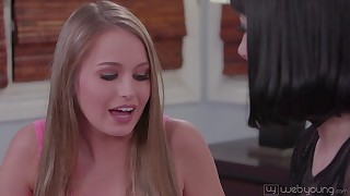 Addicted to the tits and pussy holes, horny lesbians in HD can't get enough!